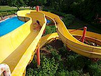 Bild vom der 56 Meter langen Wasserrutsche